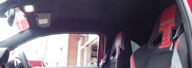 FIATアバルト:595にレカロシート。
